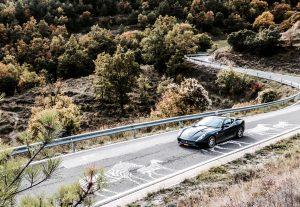 ferrari in autoreis Pyreneeën van Dolf Dekking