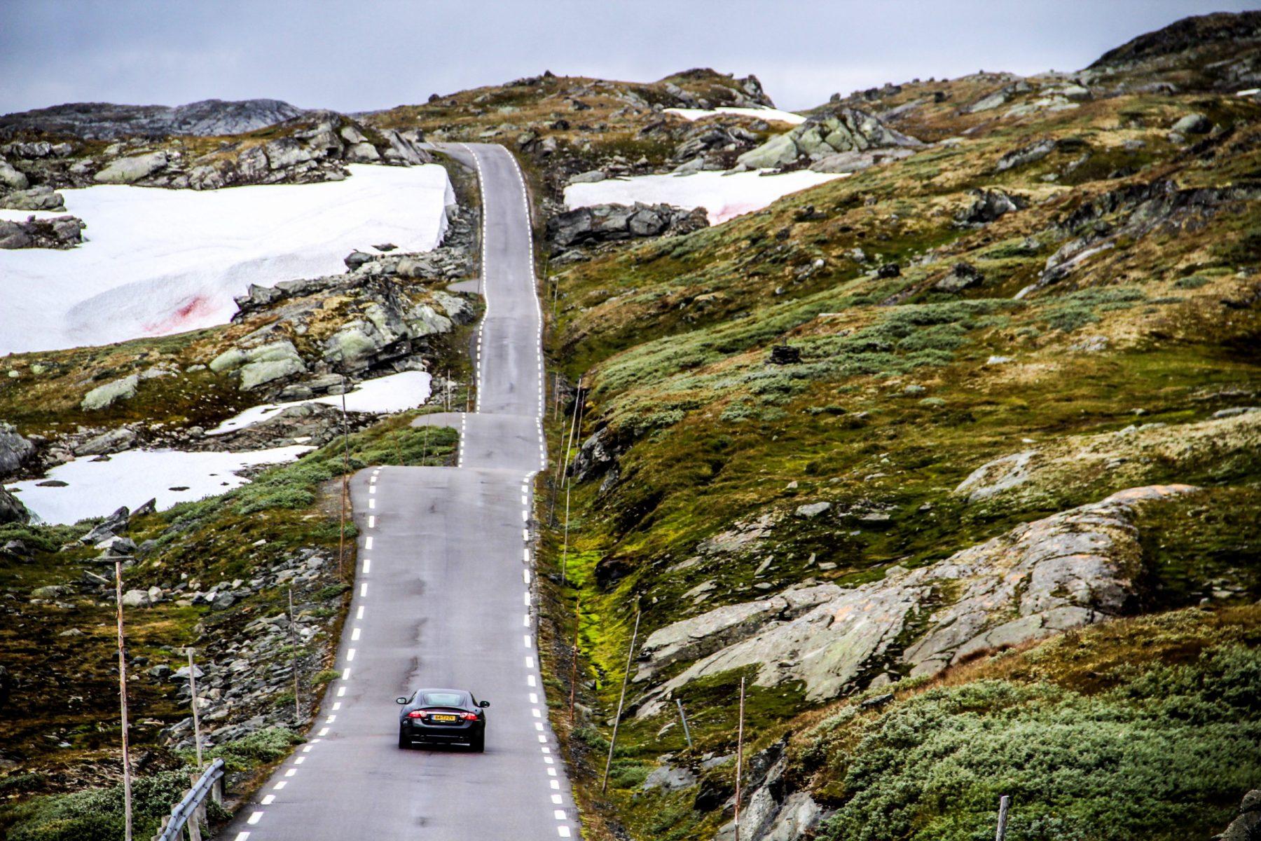 route 55 in noorwegen in dolf dekking autoreis